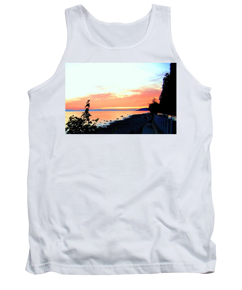 Sunset Tank Top featuring the photograph Sundown From West Vancouver by Will Borden