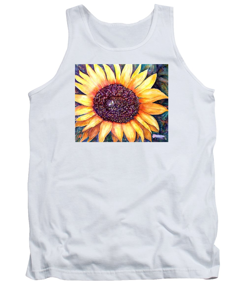 Sunflower Tank Top featuring the painting Sunflower Of Georgia by Norma Boeckler