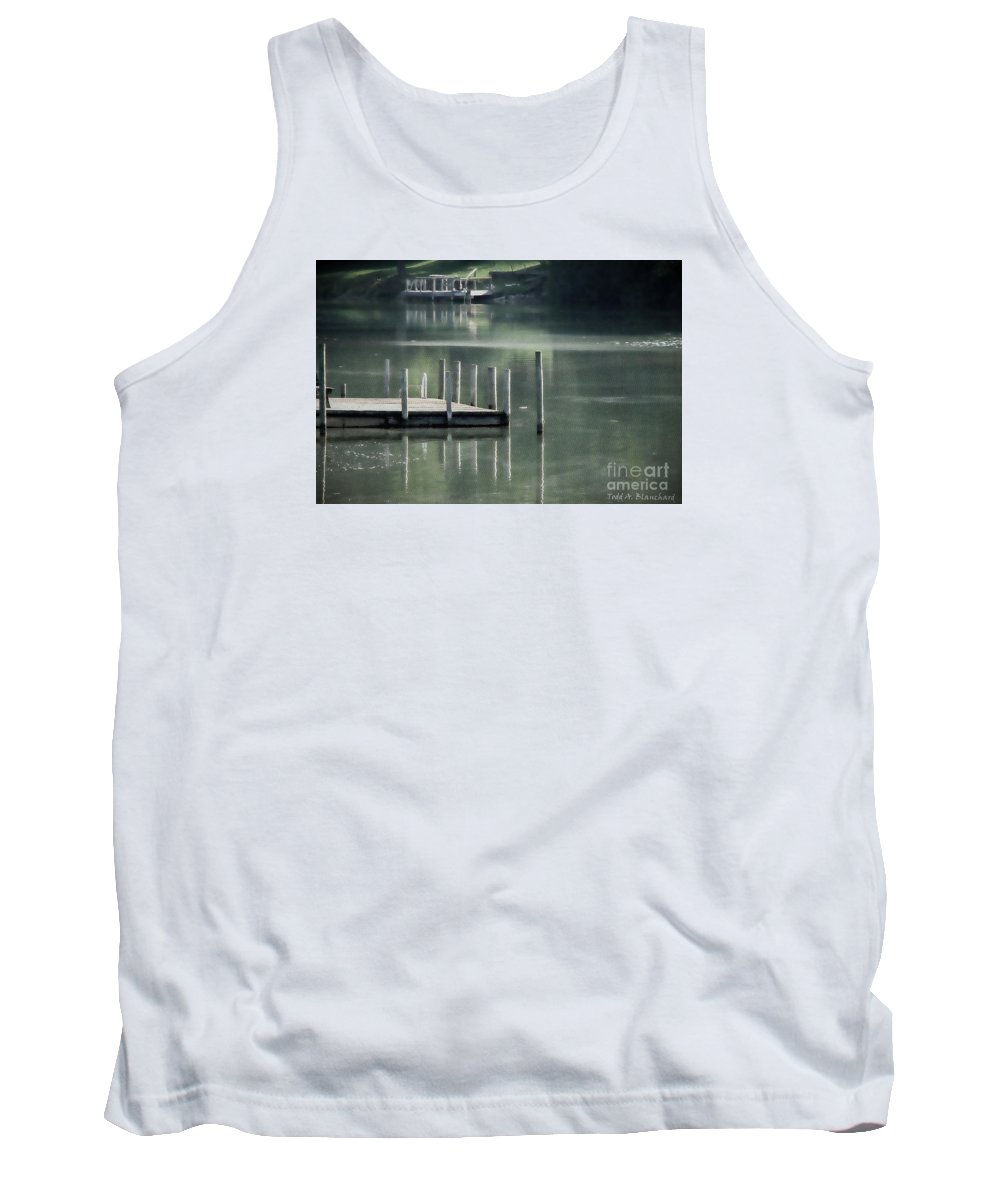 Dock Tank Top featuring the photograph Sunlit Dock by Todd A Blanchard