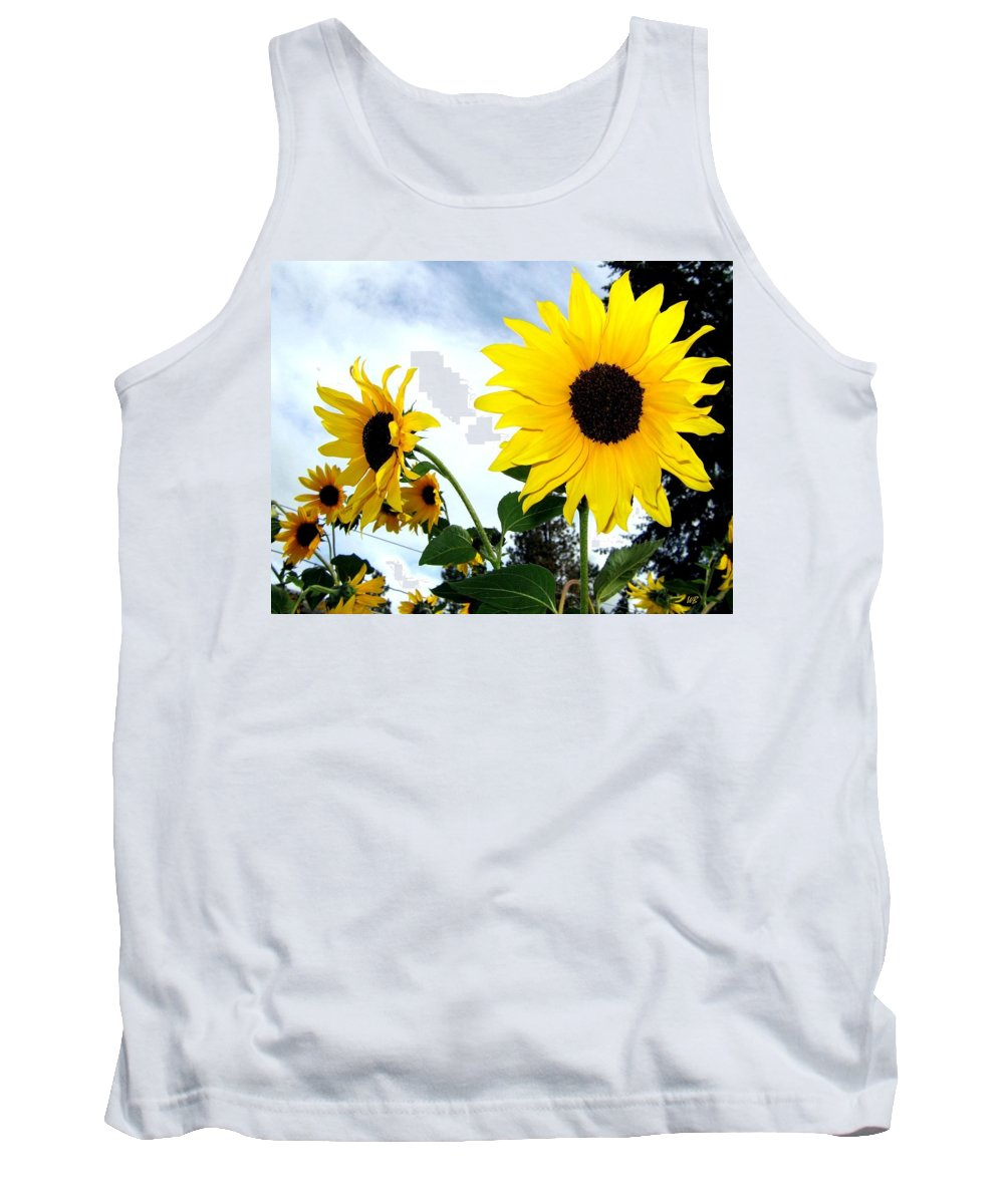 Sunflowers Tank Top featuring the photograph Sunny Slopes by Will Borden
