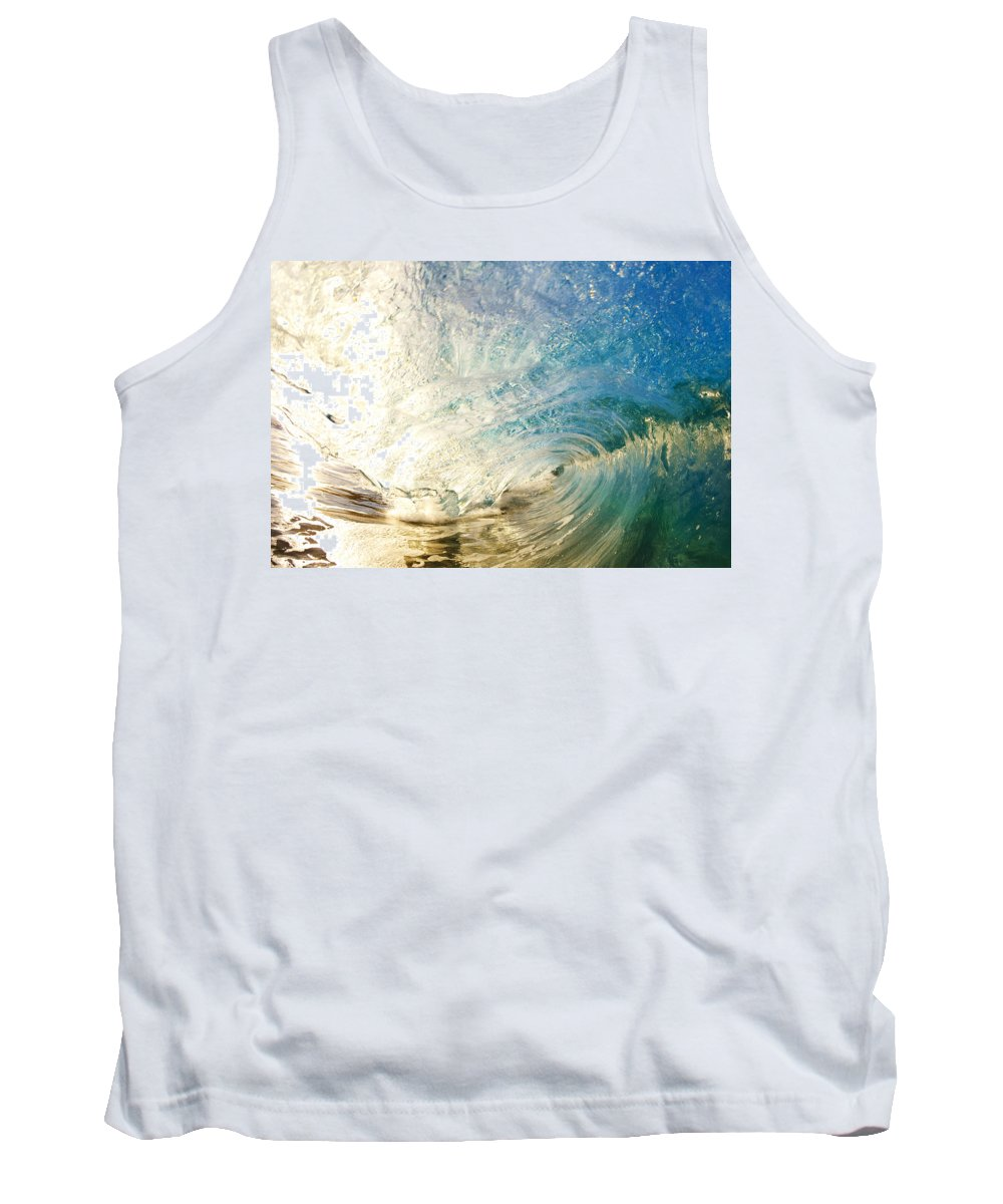 Amazing Tank Top featuring the photograph Sunrise And Wave by MakenaStockMedia