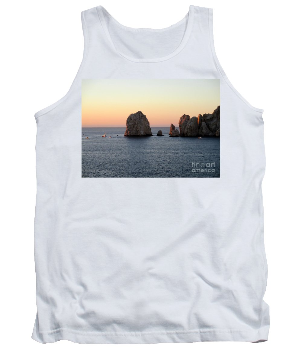 Sunrise Tank Top featuring the photograph Sunrise Cabo 1 by Randall Weidner