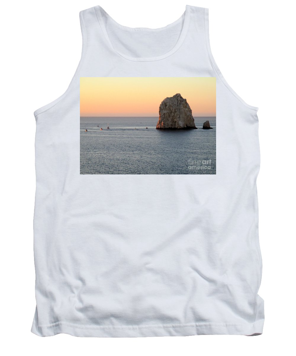 Sunrise Tank Top featuring the photograph Sunrise Cabo 2 by Randall Weidner