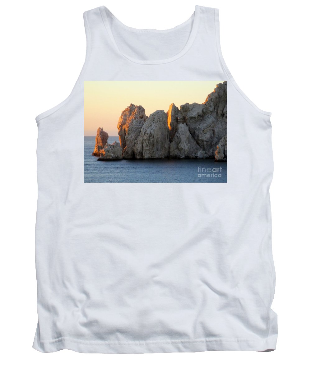 Sunrise Tank Top featuring the photograph Sunrise Cabo 3 by Randall Weidner