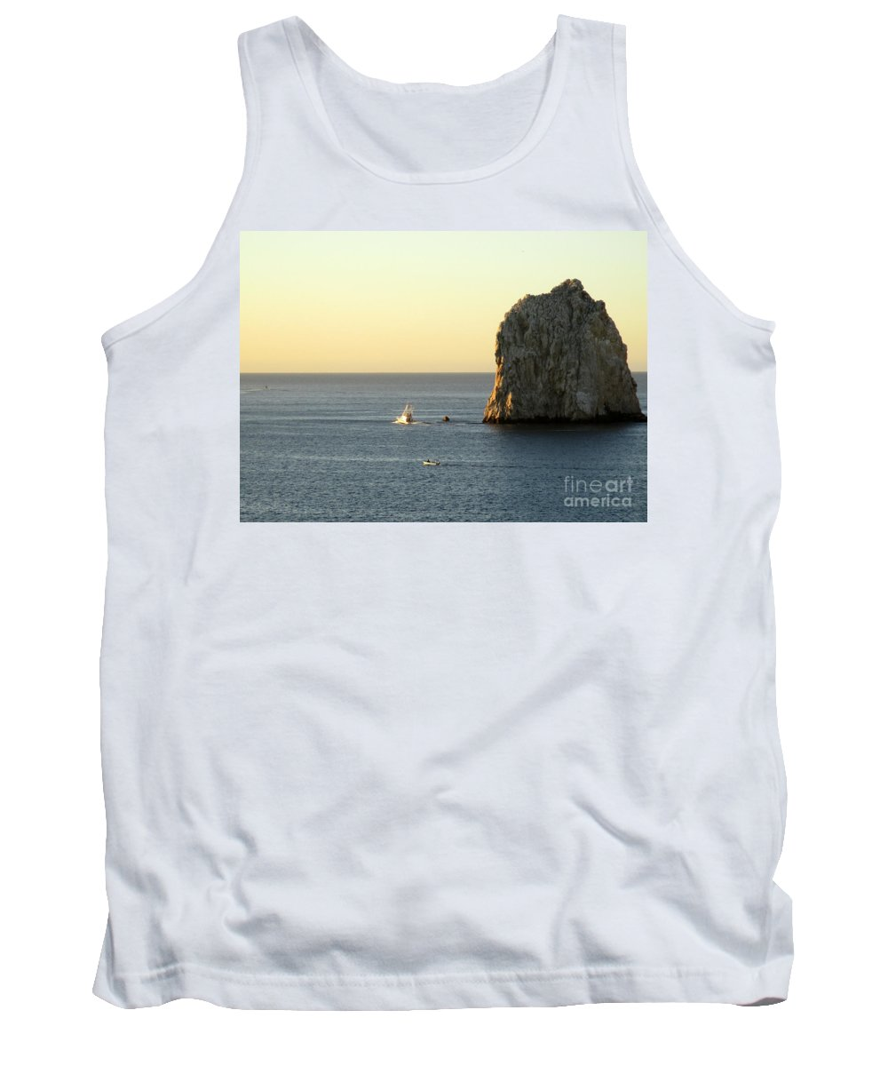 Sunrise Tank Top featuring the photograph Sunrise Cabo 5 by Randall Weidner