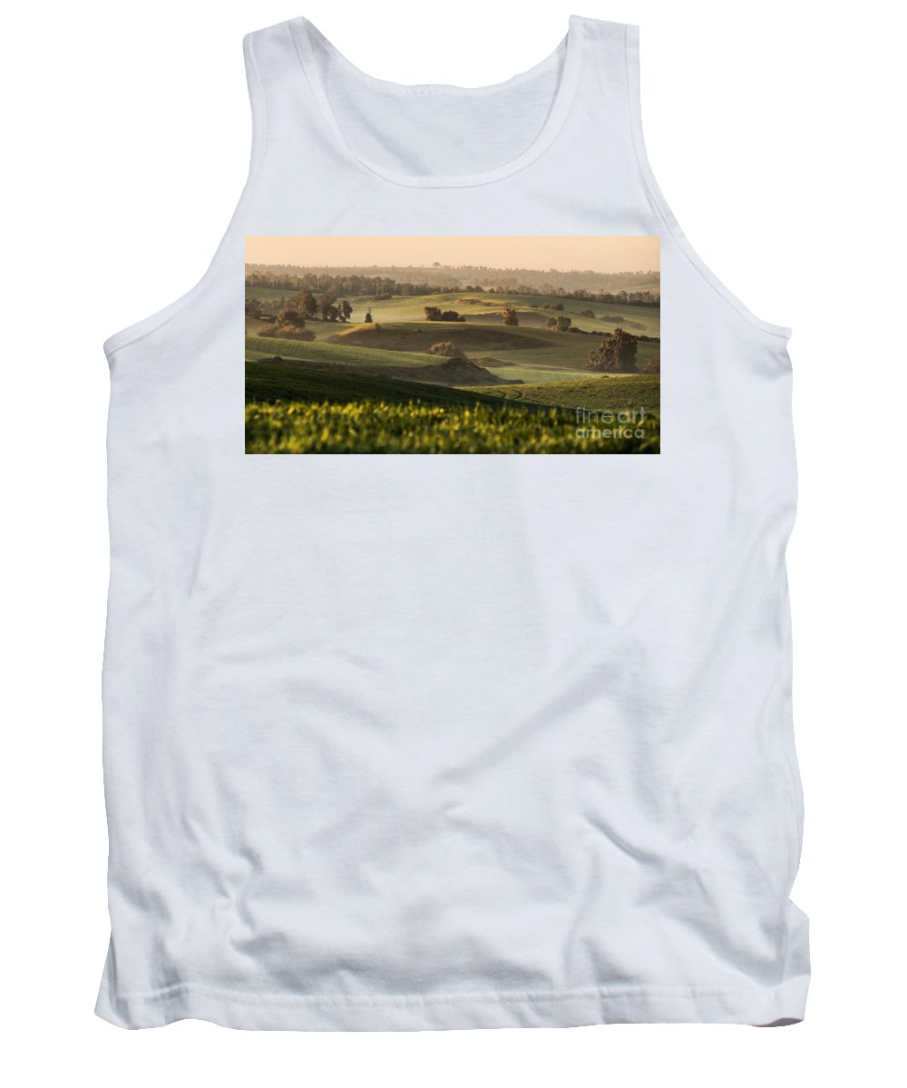 Sunrise Tank Top featuring the photograph Sunrise On The Hills by Gal Gross