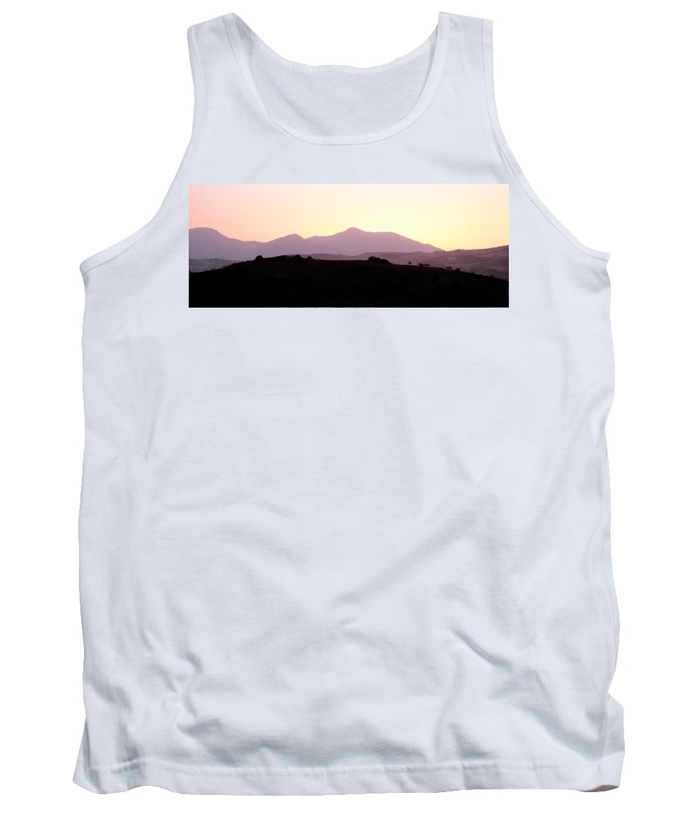 Spain Tank Top featuring the photograph Sunset Over The Andalucian Mountains Near Villanueva De La Concepcion by Mal Bray
