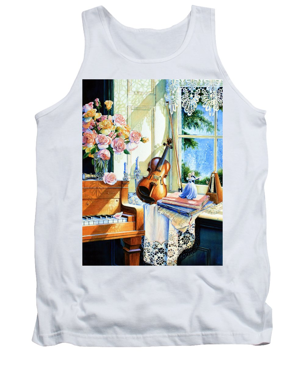 Sunshine And Happy Times Tank Top featuring the painting Sunshine And Happy Times by Hanne Lore Koehler
