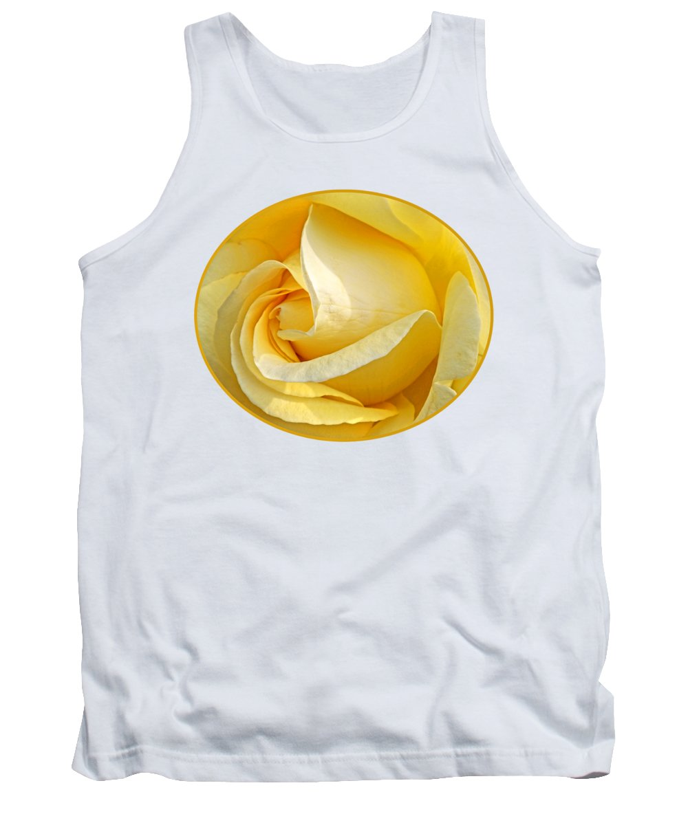 Rose Tank Top featuring the photograph Sunshine Rose by Gill Billington