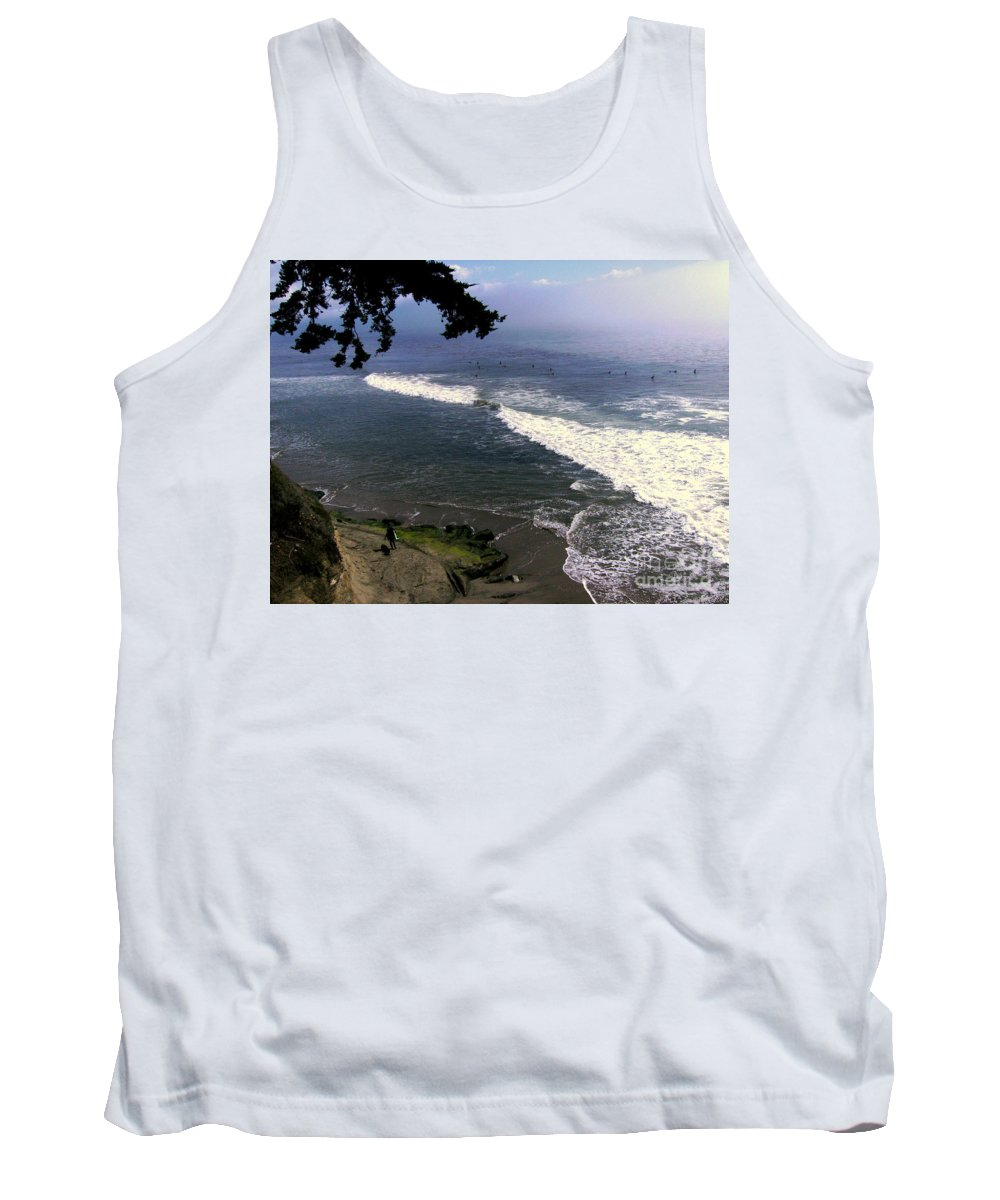 Surfing Tank Top featuring the photograph California Surfers by Rick Maxwell