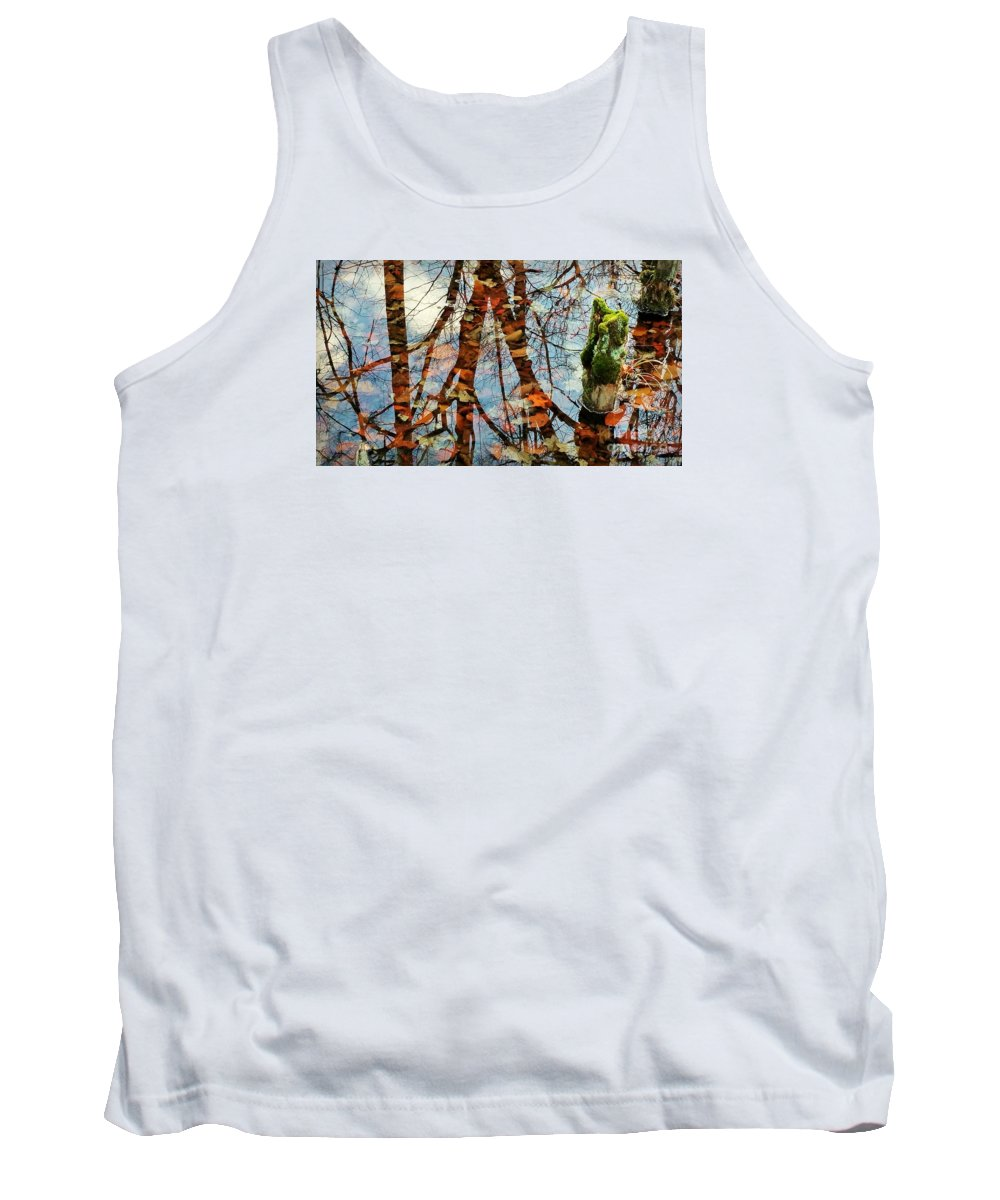Swamp Tank Top featuring the photograph Swamp Reflections by Beth Ferris Sale