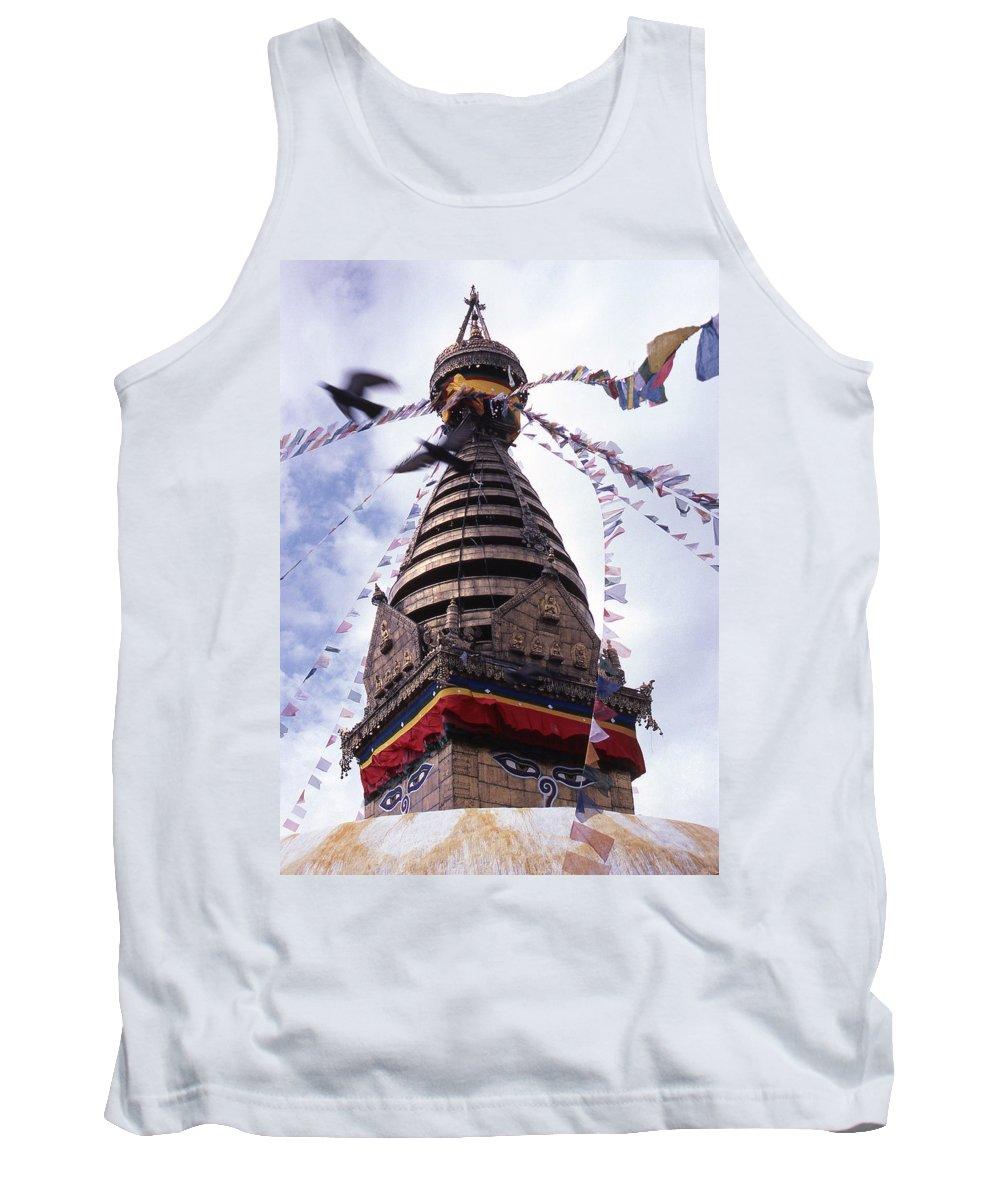Swayambhunath Tank Top featuring the photograph Swayambhunath by Patrick Klauss