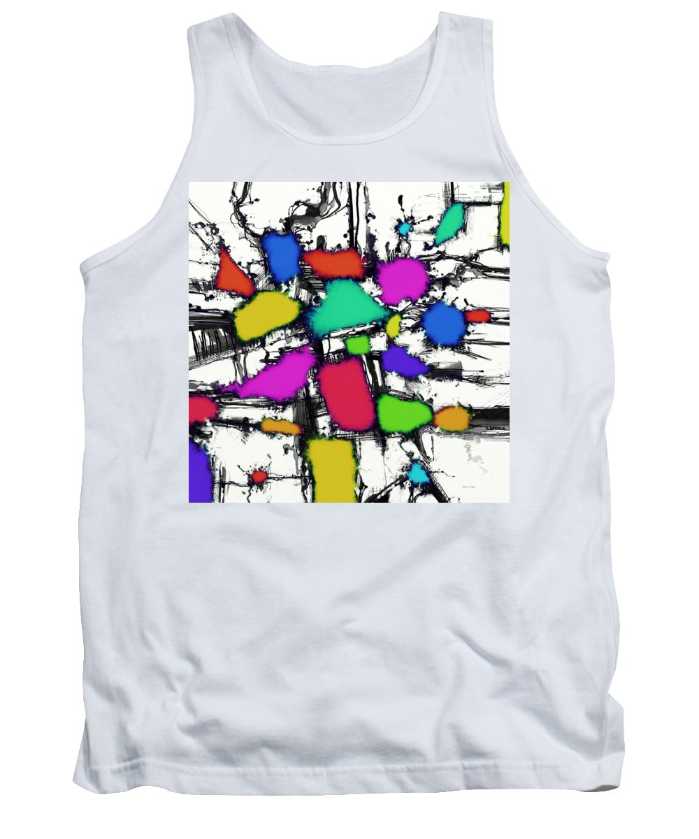 Sweet Shop Tank Top featuring the digital art Sweet Shop by Keith Mills