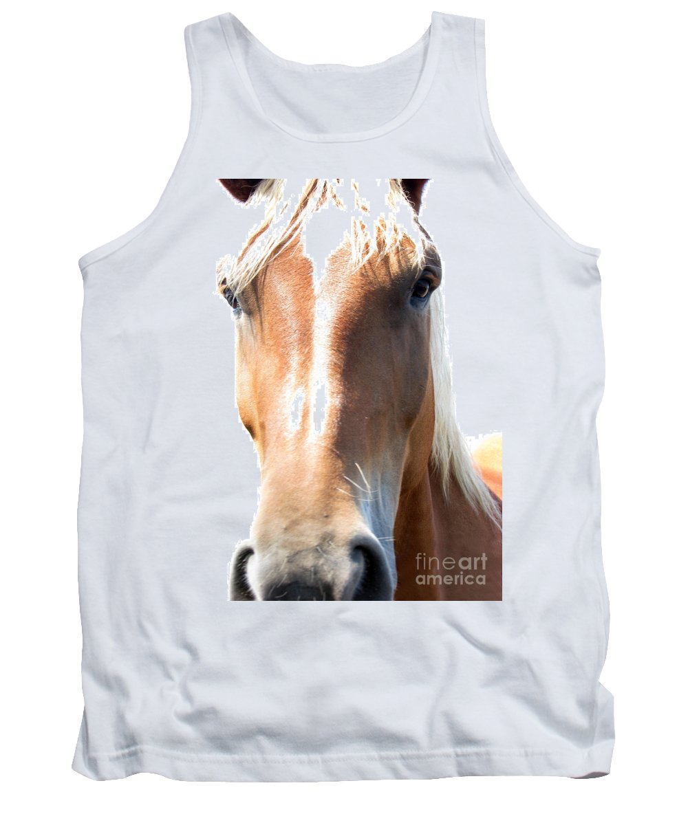 Horse Tank Top featuring the photograph Sweetie by Amanda Barcon