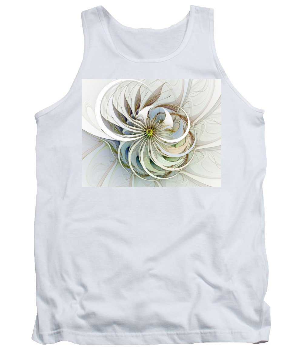 Digital Art Tank Top featuring the digital art Swirling Petals by Amanda Moore