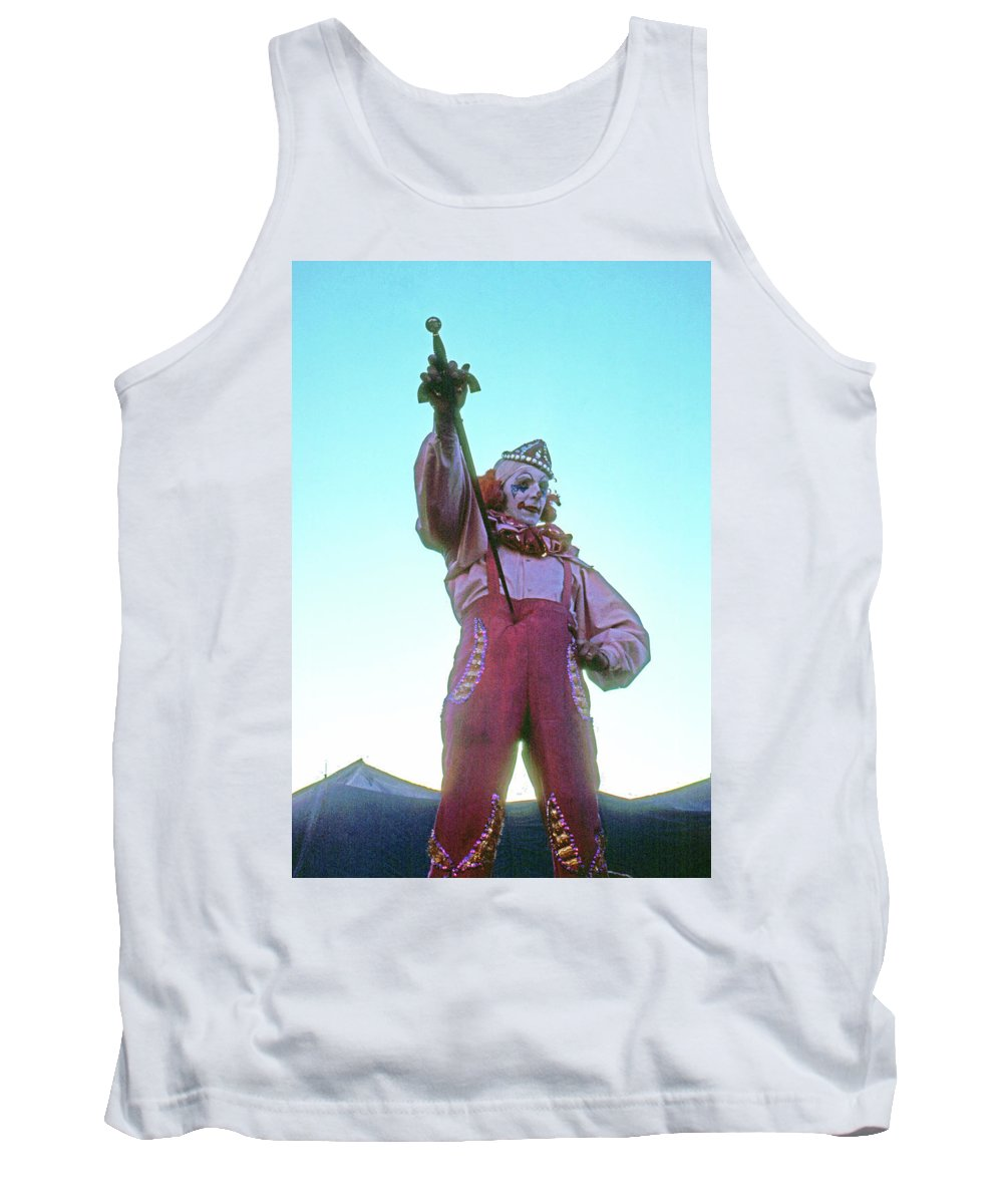 Clown Circus Sword Swallower Tank Top featuring the photograph Sword Swallower by Laurie Stewart