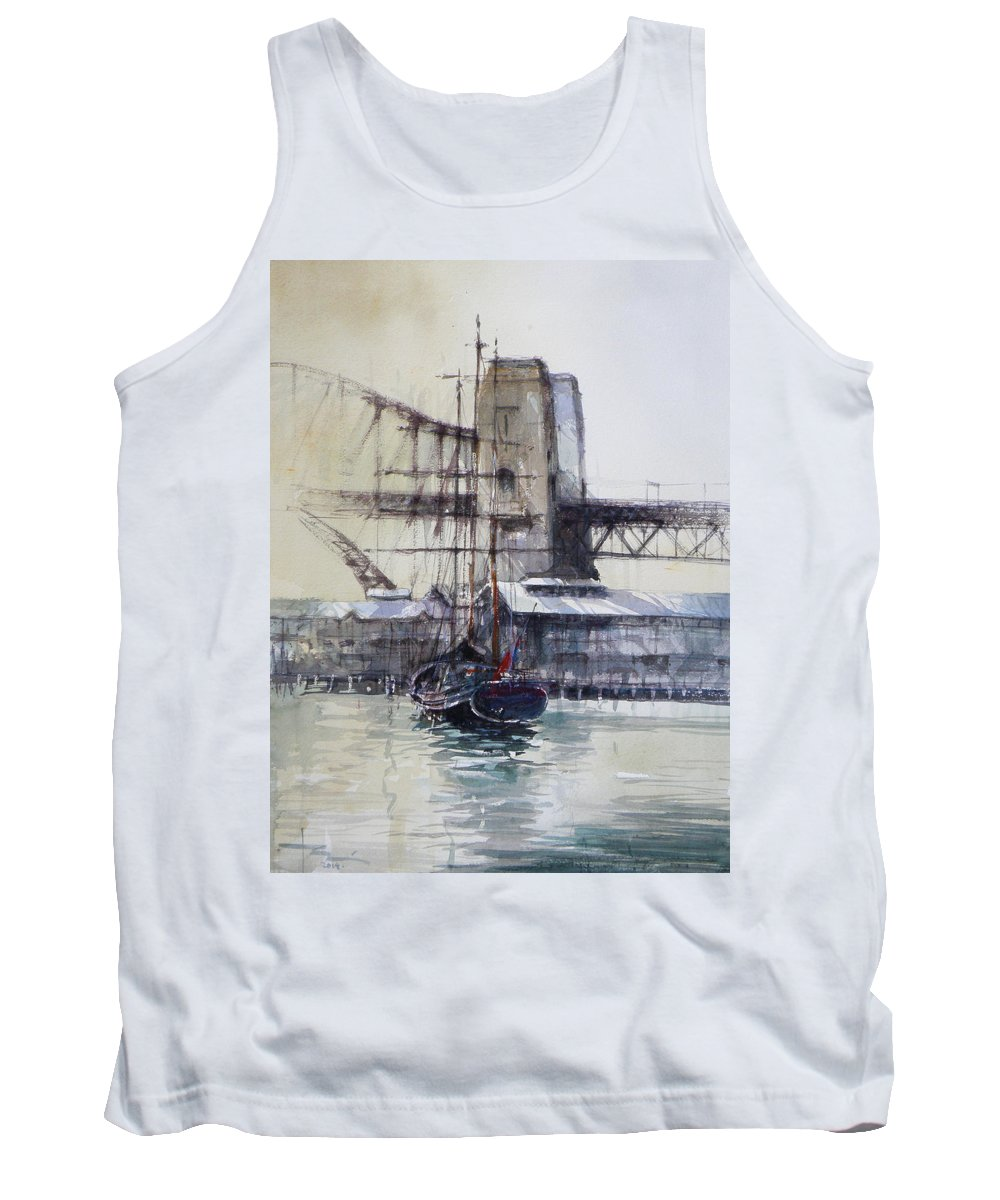 Sydney Tank Top featuring the painting Sydney Harbour by Tony Belobrajdic