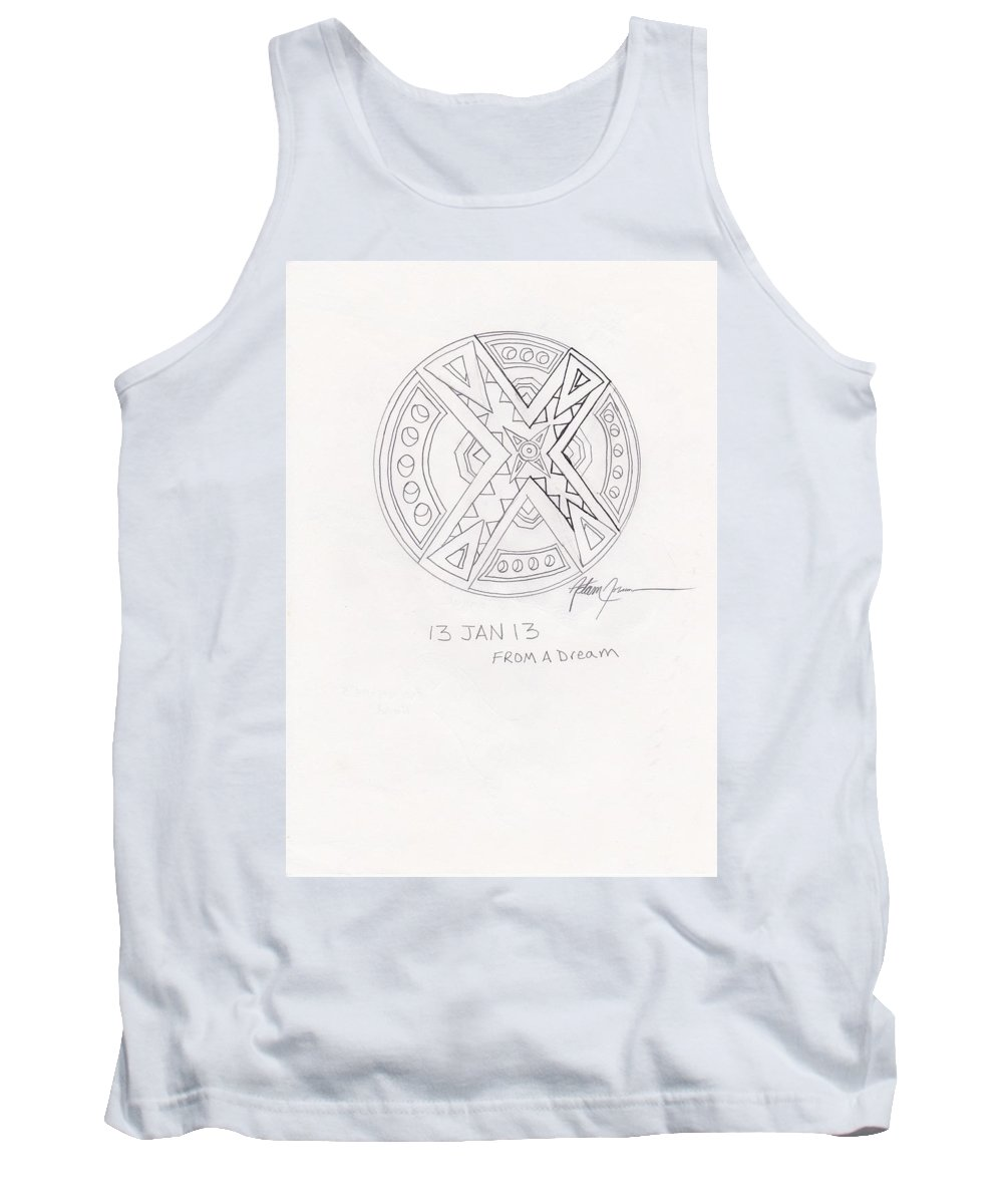 Pencil Tank Top featuring the drawing Symbol Finished by Adam Norman