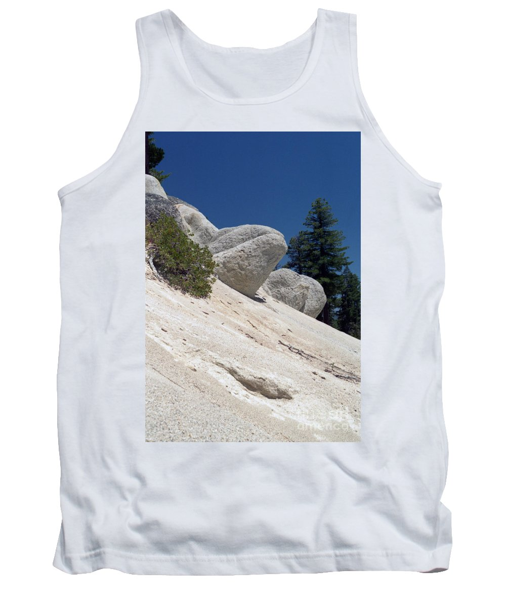 Abstract Tank Top featuring the photograph Tahoe Rocks by Richard Rizzo