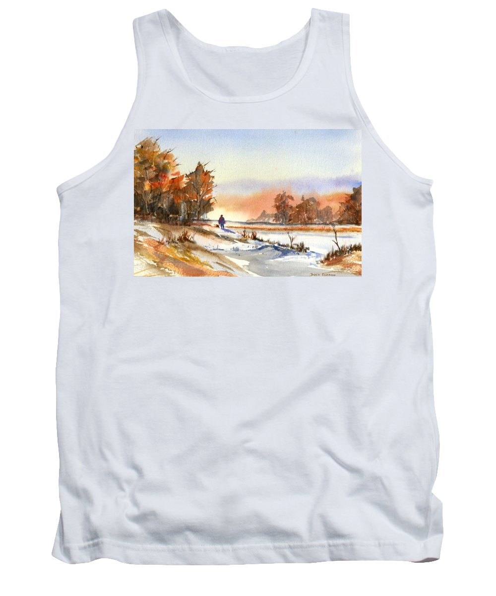 Peaceful Tank Top featuring the painting Taking A Walk by Debbie Lewis
