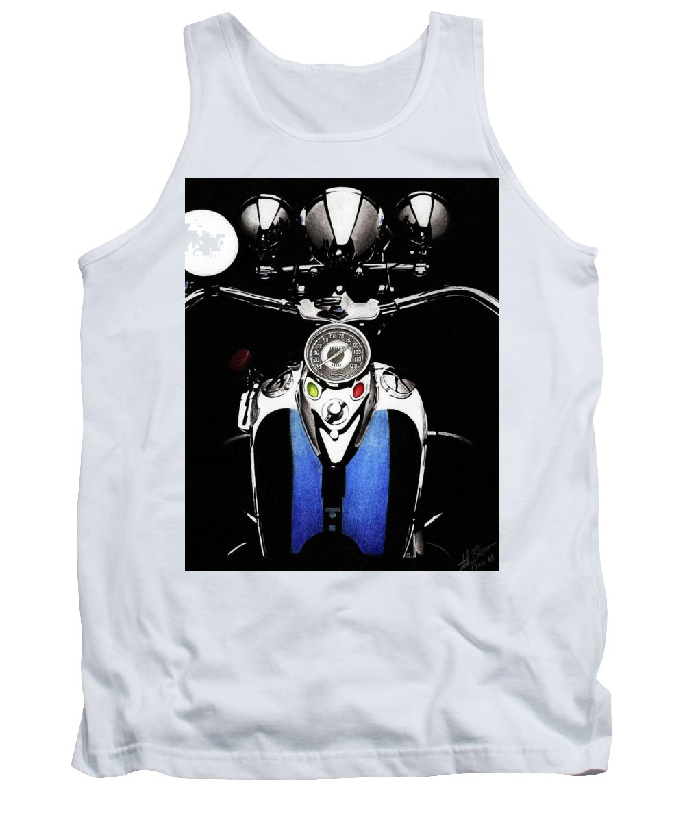 1941 Tank Top featuring the mixed media Tanked by Lyle Brown