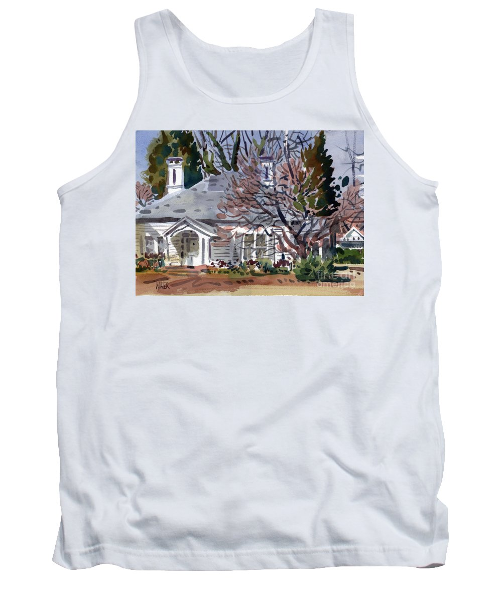 Tapp House Tank Top featuring the painting Tapp House by Donald Maier