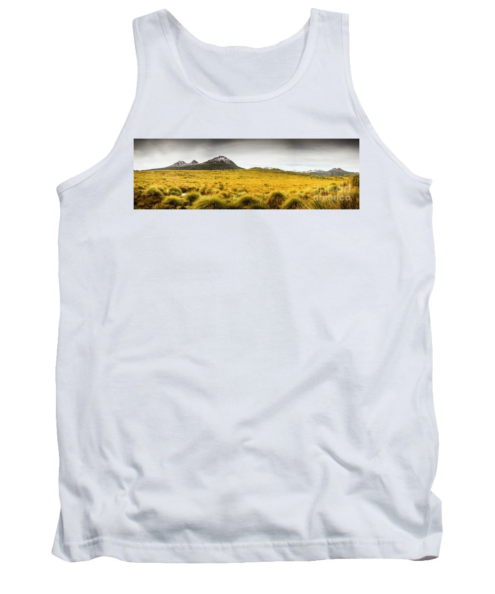Country Tank Top featuring the photograph Tasmania Mountains Of The East-west Great Divide by Jorgo Photography - Wall Art Gallery