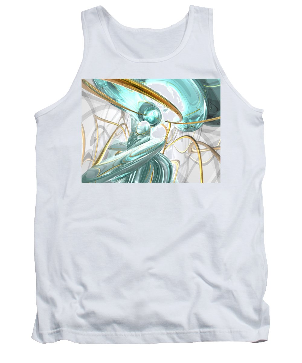 3d Tank Top featuring the digital art Teary Dreams Abstract by Alexander Butler