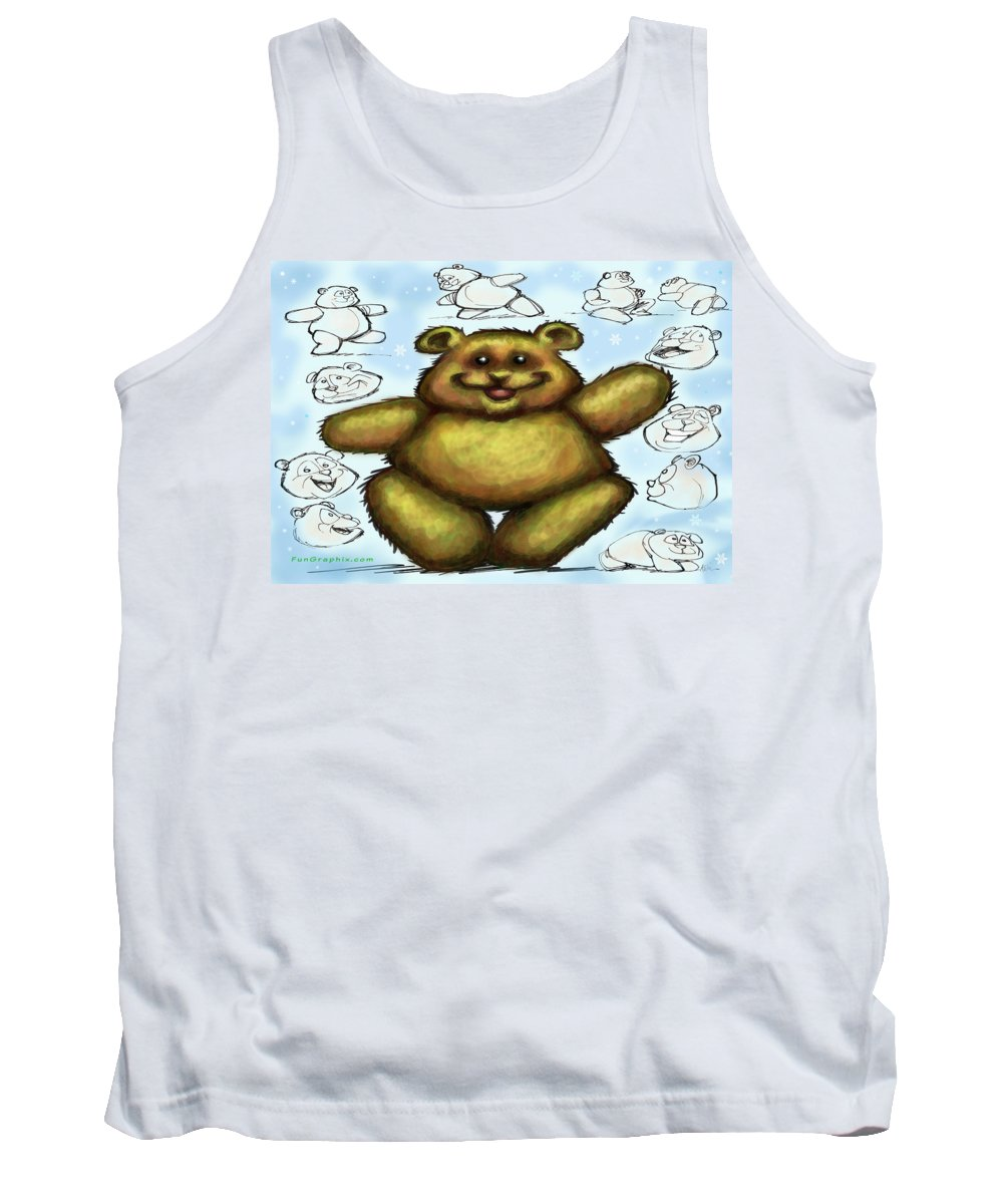 Bear Tank Top featuring the painting Teddy Bear by Kevin Middleton
