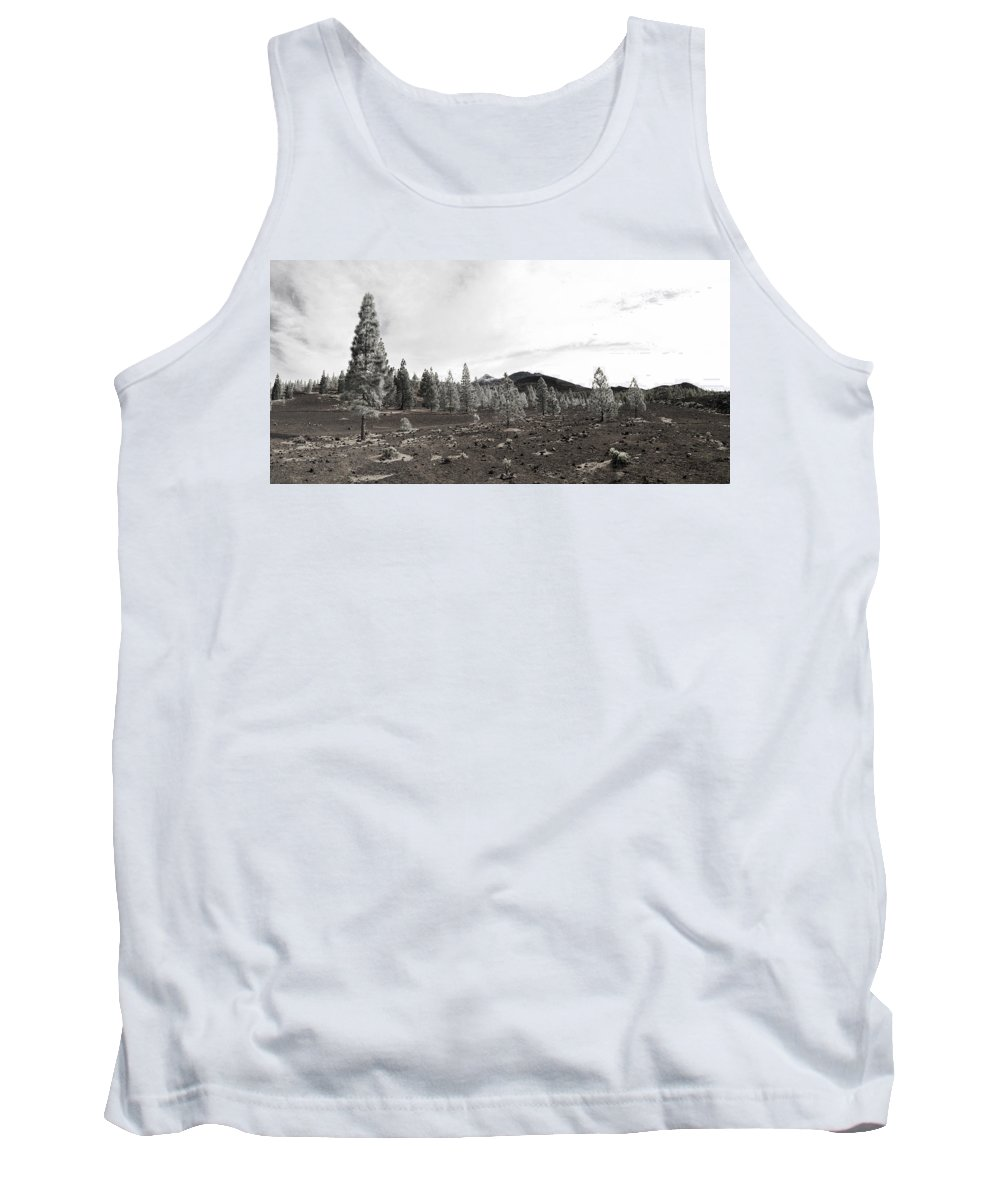 Landscape Tank Top featuring the photograph Teide Nr 11 In Bw by Jouko Lehto