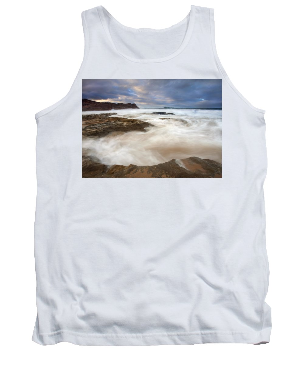 Bowl Tank Top featuring the photograph Tempestuous Sea by Mike Dawson