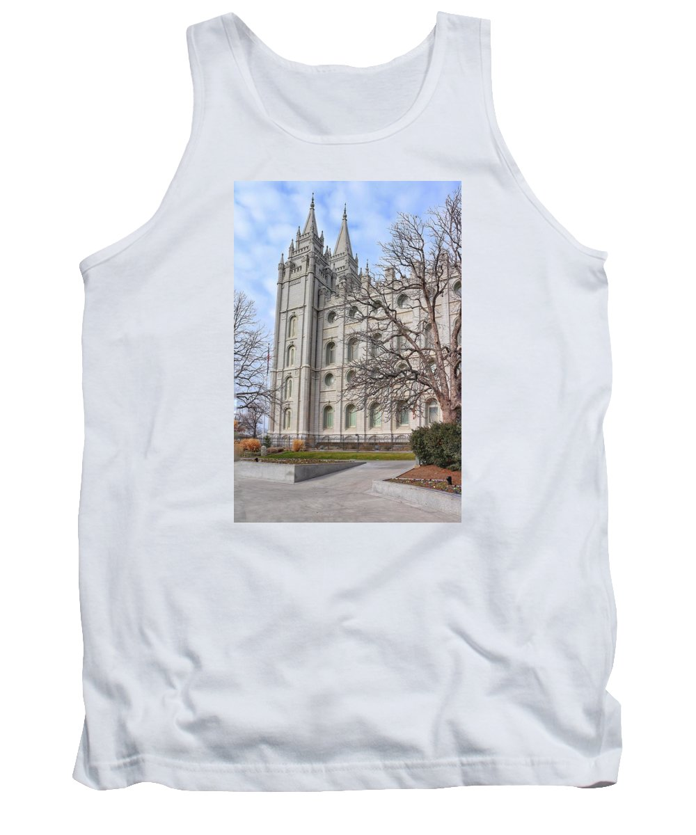Mormon Tank Top featuring the photograph Temple Walk by Buck Buchanan