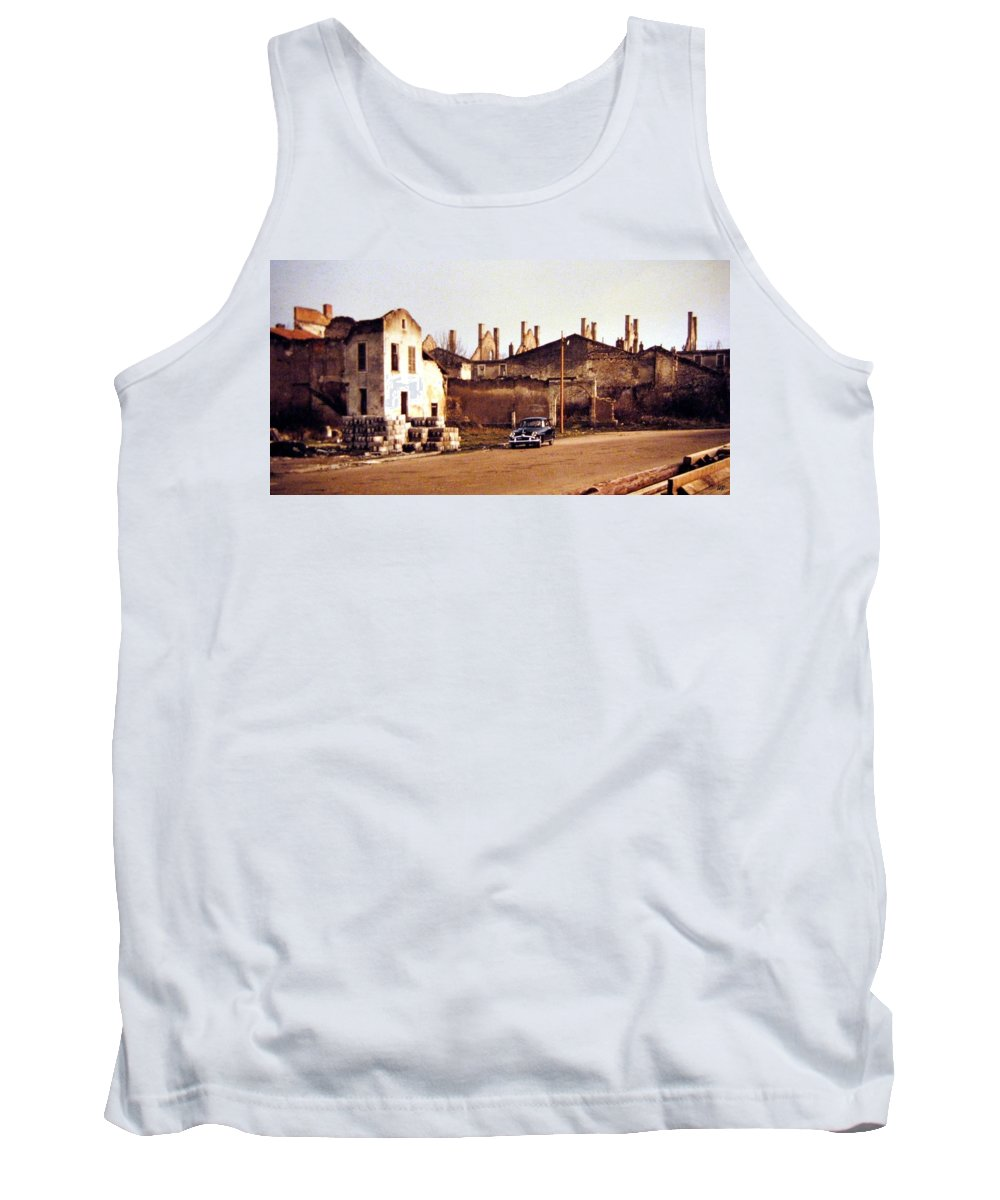 1955 Tank Top featuring the photograph Ten Years After The Bombs 1955 by Will Borden