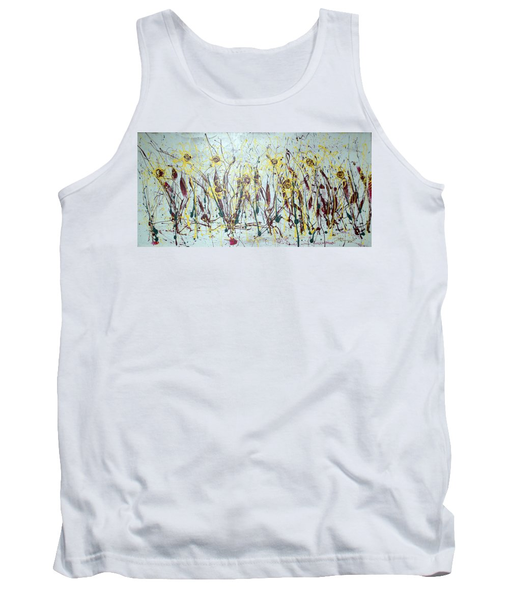 Flowers Tank Top featuring the painting Tending My Garden by J R Seymour