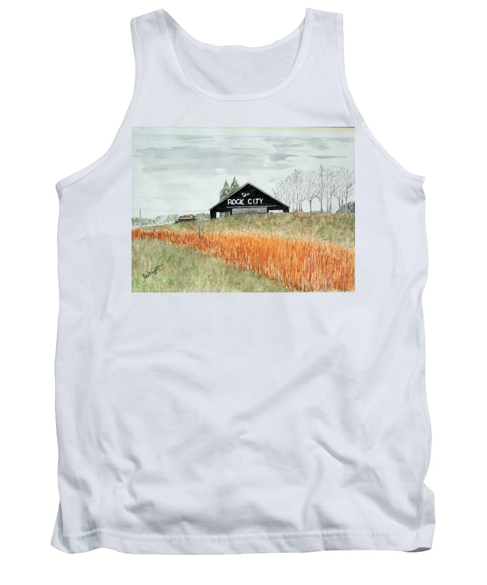 Barns Tank Top featuring the painting Tennessee Destination by Larry Wright