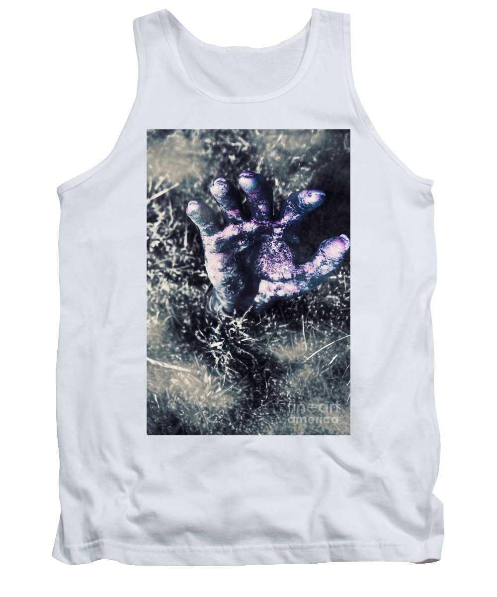 Zombie Tank Top featuring the photograph Terror From The Crypt by Jorgo Photography - Wall Art Gallery