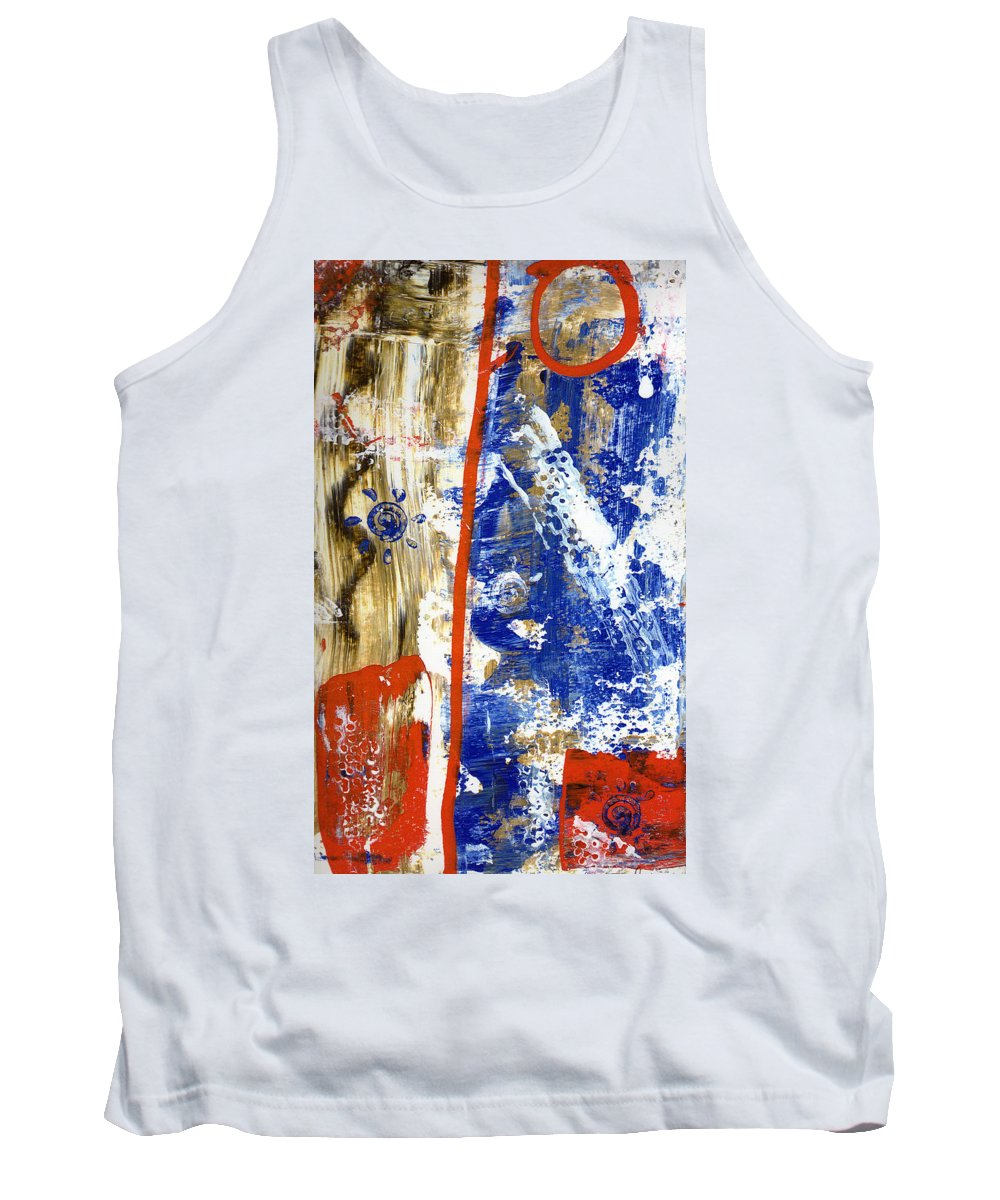 Abstract Tank Top featuring the painting The 4th by Wayne Potrafka