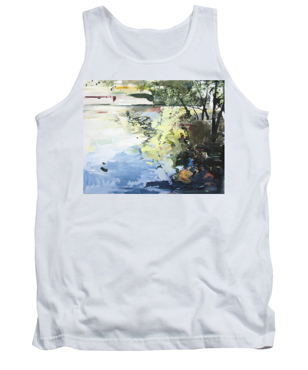 Water Tank Top featuring the painting The Alster In High Summer by Calum McClure