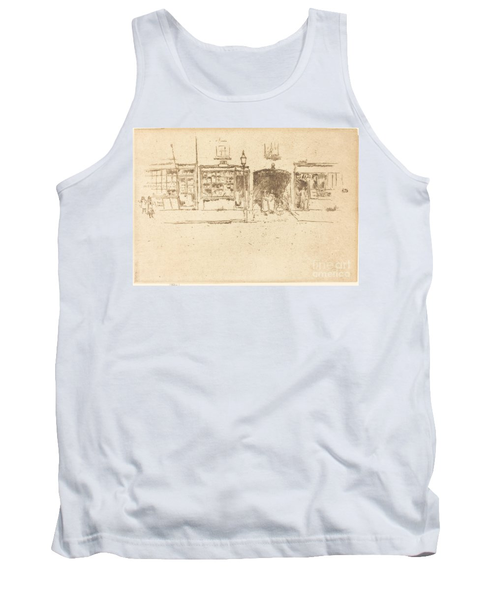 Tank Top featuring the drawing The Barber's by James Mcneill Whistler