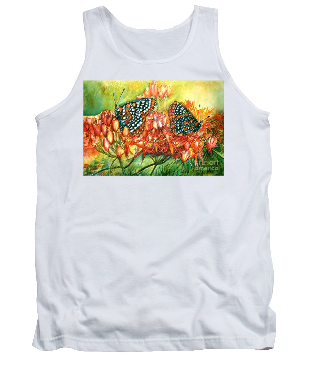 Butterflies Artwork Tank Top featuring the painting The Beauty Of Spring by Norma Boeckler