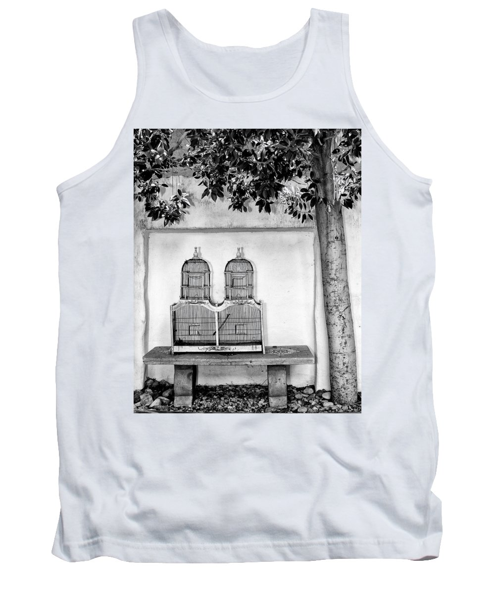The Bird Cage Tank Top featuring the photograph The Bird Cage Palm Springs by William Dey