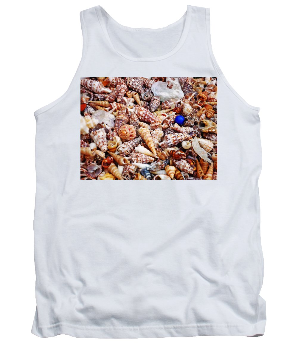 Shell Tank Top featuring the photograph The Blue Bead by Charles Stuart