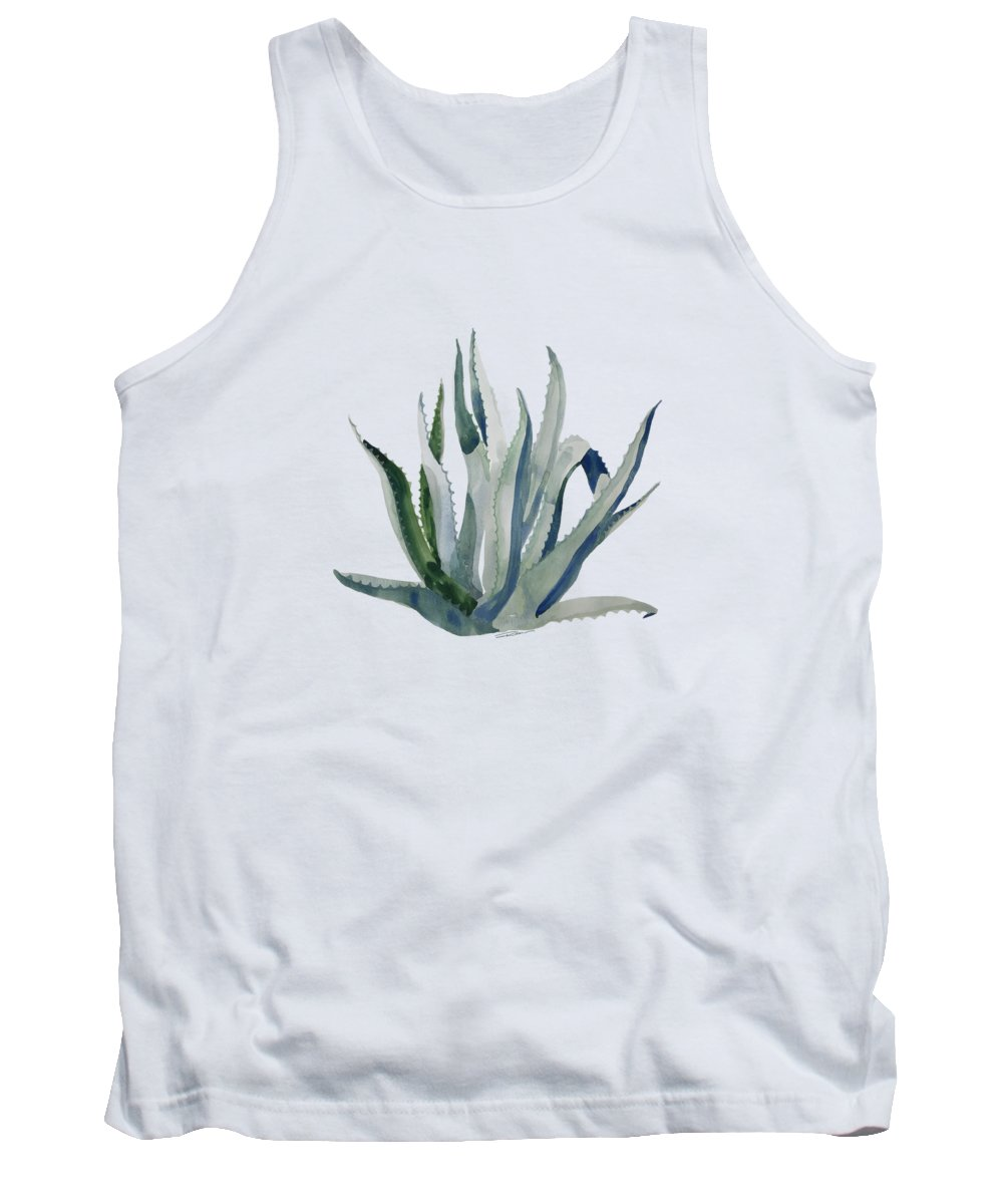 Century Plant Tank Top featuring the painting The Centurian Century Plant by Roleen Senic