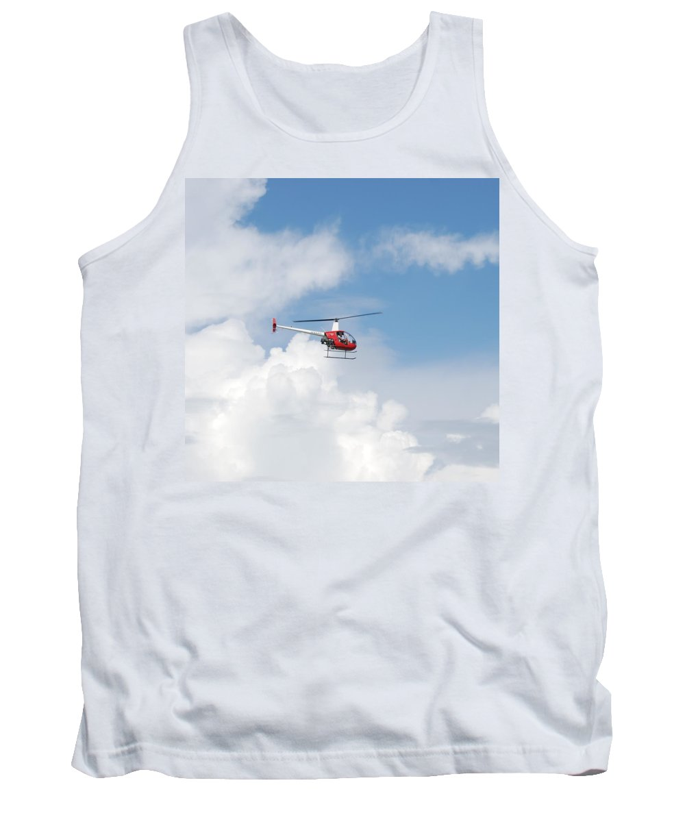 Helocopter Tank Top featuring the photograph The Chopper by Rob Hans