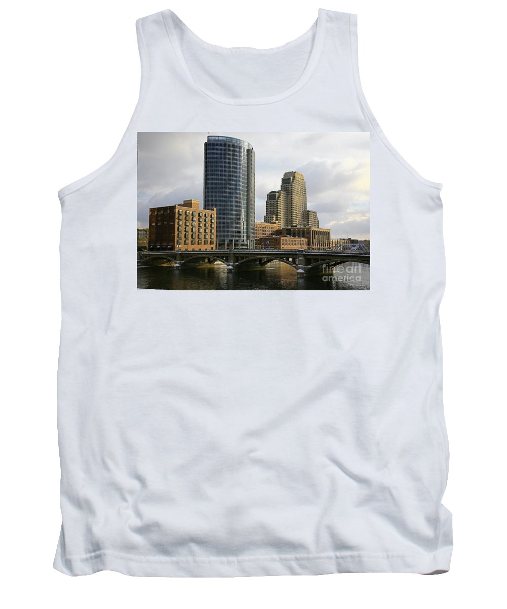 City Tank Top featuring the photograph The City Grand Rapids Mi-2 by Robert Pearson