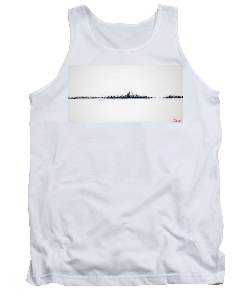 New Tank Top featuring the painting The City New York by Jack Diamond