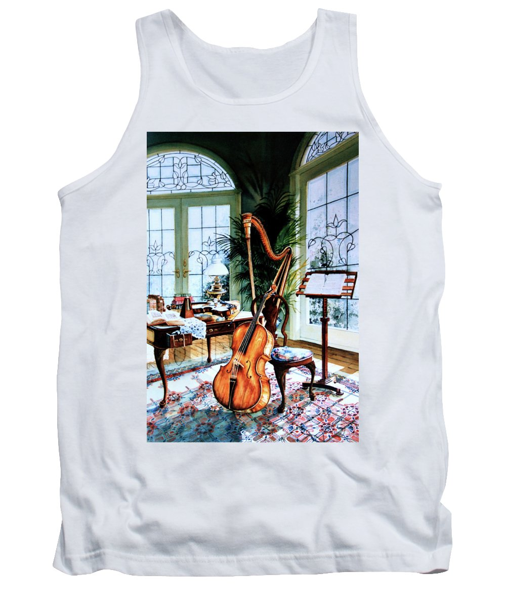 Still Life Art Tank Top featuring the painting The Conservatory by Hanne Lore Koehler