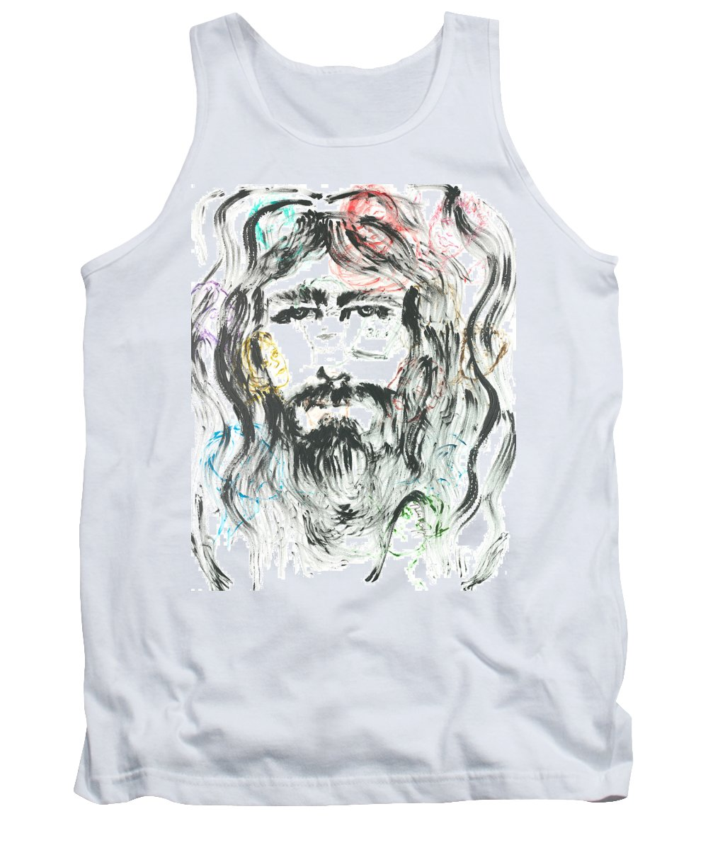 Jesus Tank Top featuring the painting The Emotions Of Jesus by Nadine Rippelmeyer