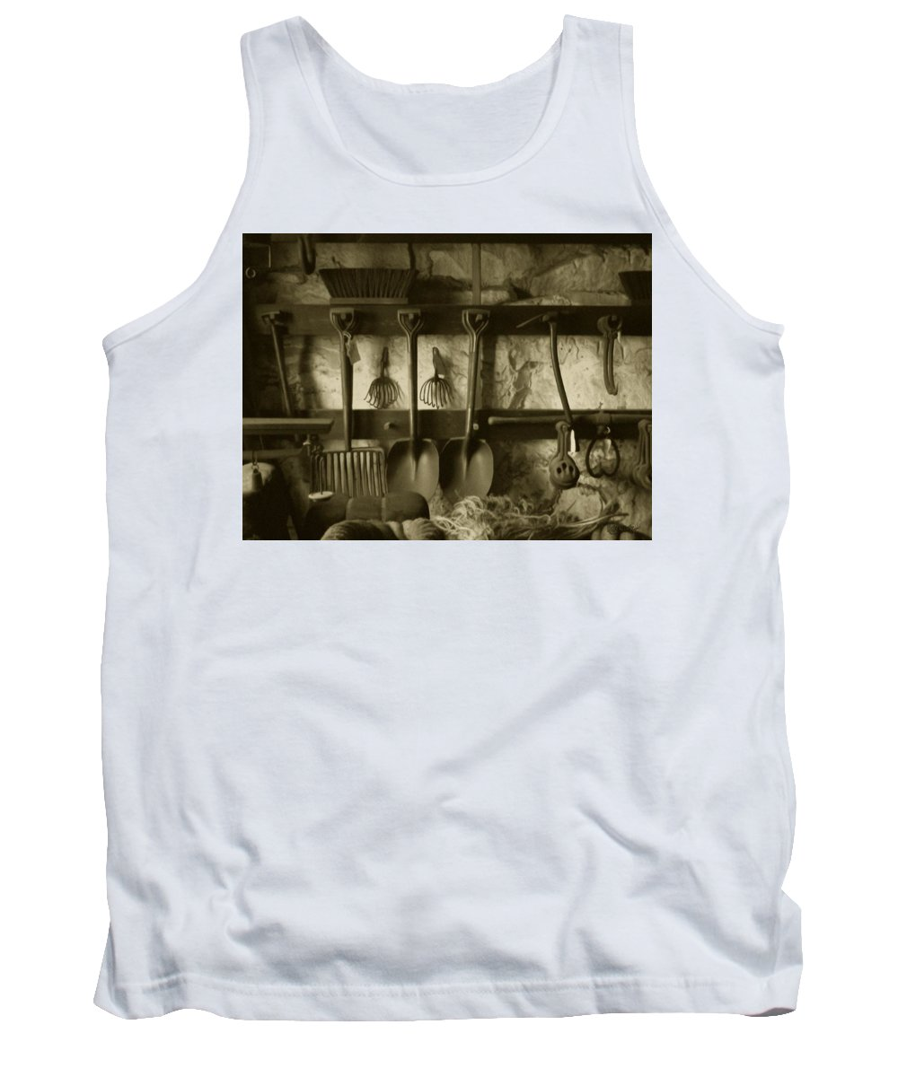Farming Tank Top featuring the photograph The Farmer's Toolshed by RC deWinter