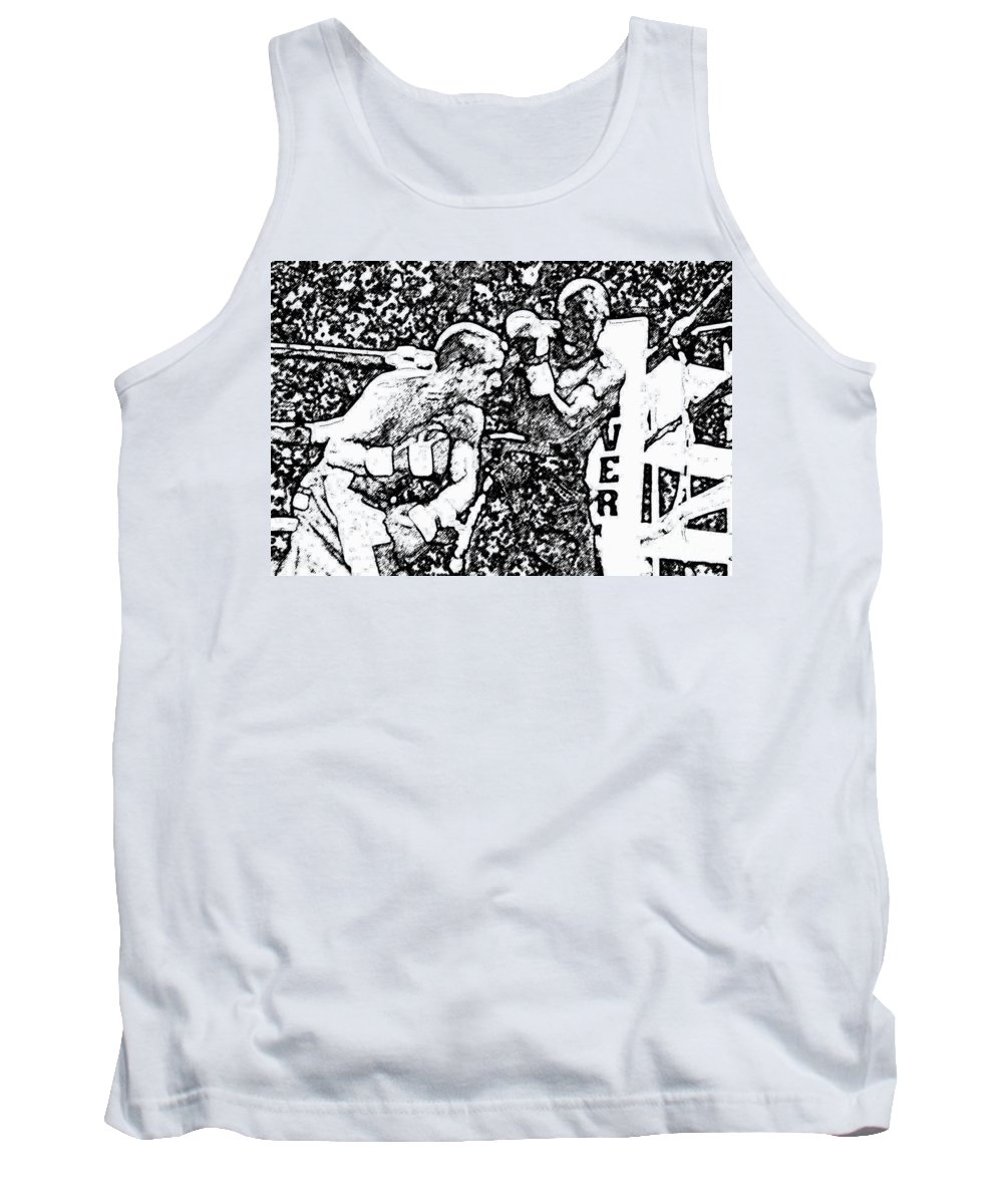 Prize Fighting.boxing Tank Top featuring the photograph The Follow Through by David Lee Thompson